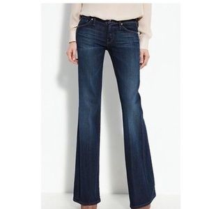 New Mother wideleg wilder high rise flare Jean 25
